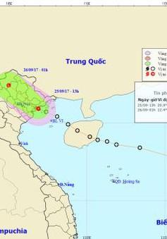 Áp thấp nhiệt đới đã vào đất liền Quảng Ninh - Hải Phòng