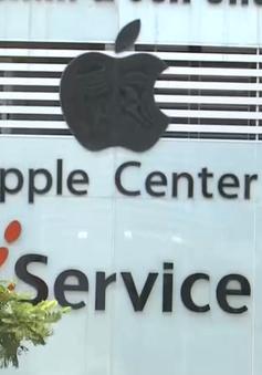 Các cửa hàng sử dụng trái phép logo của Apple sẽ bị xử phạt hành chính