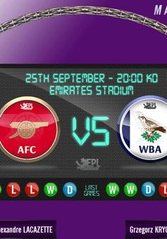 Vòng 6 Ngoại hạng Anh, Arsenal - West Brom: Pháo thủ tự tin giành 3 điểm (02:00 ngày 26/9)