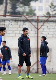 ĐT Việt Nam thích nghi tốt với với mặt sân nhân tạo tại Tajkistan