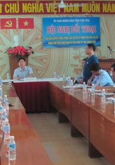 Phú Yên: Đối thoại với ngư dân về tàu vỏ thép bị hư hỏng