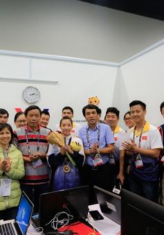 SEA Games 29: Giành HCV đầu tiên cho TTVN, Thuý Vi xuất hiện ấn tượng tại trường quay của VTV ở Malaysia