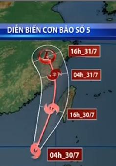 Áp thấp nhiệt đới mạnh lên thành bão số 5