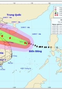 Bão số 10 đang mạnh lên, cách quần đảo Hoàng Sa khoảng 140km