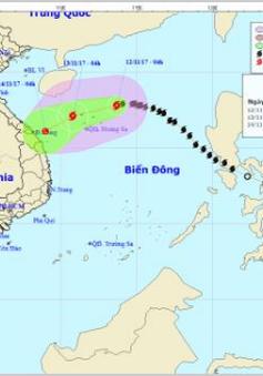 Bão số 13 với sức gió giật cấp 11, cách quần đảo Hoàng Sa 210km