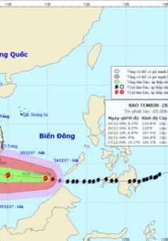 Đêm mai (25/12), bão Tembin sẽ đổ bộ vào Bà Rịa Vũng Tàu - Cà Mau