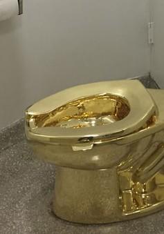 Bảo tàng Mỹ lắp bồn cầu dát vàng phục vụ khách tham quan