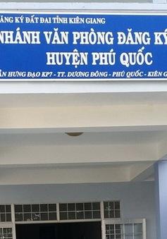 Bắt tạm giam lãnh đạo Văn phòng đăng ký đất đai chi nhánh Phú Quốc