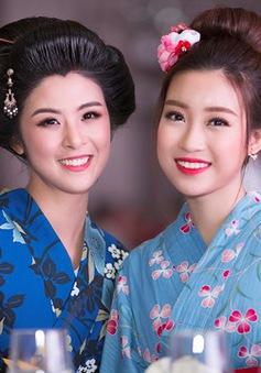 Hoa hậu Ngọc Hân, Mỹ Linh khác lạ trong trang phục kimono