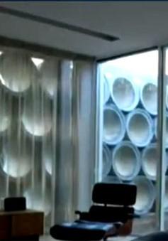 Biệt thự hiện đại được trang trí bằng… ống bê tông