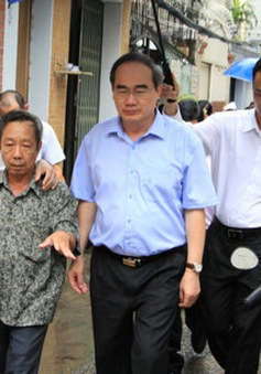 Bí thư Thành ủy TP.HCM kiểm tra dự án chống ngập của thành phố