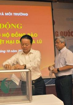 Bộ Tài nguyên và Môi trường ủng hộ đồng bào vùng lũ