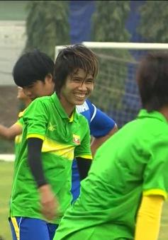 Không khí tập luyện của ĐT nữ Myanmar và ĐT nữ Singapore