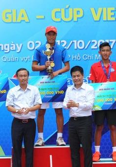 Phạm Minh Tuấn vô địch đơn nam giải quần vợt VĐQG 2017