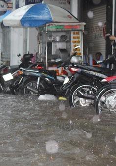 Cần Thơ: Mưa lớn gây ngập nhiều tuyến đường nội ô