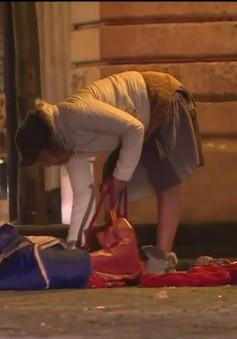 Tình cảnh người vô gia cư trong thời tiết giá lạnh