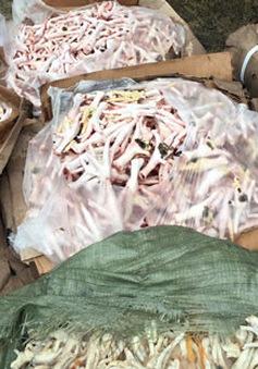 Lào Cai bắt gần 1 tấn gà đông lạnh nhập lậu