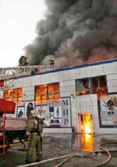Khu chợ Việt ở Orenburg (Nga) bốc cháy, nhiều tiểu thương trắng tay