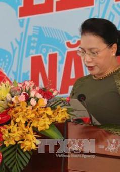 Chủ tịch Quốc hội Nguyễn Thị Kim Ngân dự lễ khai giảng năm học mới tại Tiền Giang