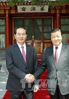 Chủ tịch nước hội kiến Ủy viên thường vụ Bộ Chính trị Trung Quốc
