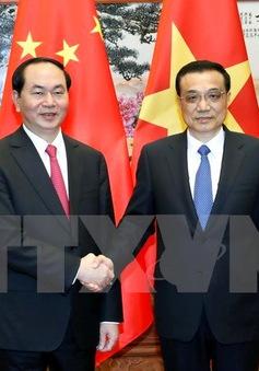 Chủ tịch nước Trần Đại Quang hội kiến Thủ tướng Trung Quốc