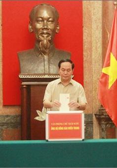 Văn phòng Chủ tịch nước quyên góp ủng hộ đồng bào vùng lũ