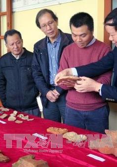 Khai quật nhiều hiện vật thời Lý, Trần ở di chỉ Đền Huyện (Hà Tĩnh)