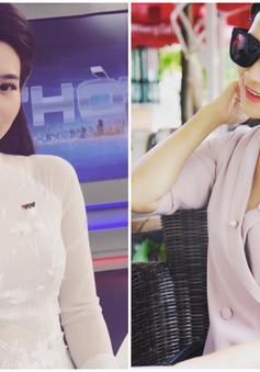 BTV Khánh Trang ghi điểm với gu thời trang thanh lịch, nữ tính