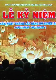 Quảng Nam: Kỷ niệm 80 năm thành lập Đảng bộ huyện Đại Lộc