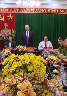 Chủ tịch nước làm việc với Công an tỉnh Phú Thọ