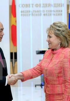 Chủ tịch nước hội kiến Chủ tịch Hội đồng Liên bang Nga