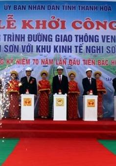 Khởi công dự án đường ven biển nối thị xã Sầm Sơn và Khu kinh tế Nghi Sơn