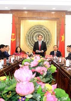 Chủ tịch nước làm việc với Ban Thường vụ Tỉnh ủy Thanh Hóa