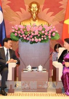 Chủ tịch Quốc hội tiếp Thủ tướng Lào