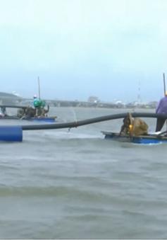 Cửa biển bồi lấp, nhiều tàu cá chưa thể rời cảng Đông Tác