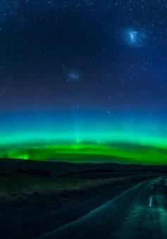 Nam cực quang xuất hiện tuyệt đẹp trên bầu trời New Zealand