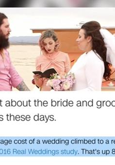 Người Mỹ chi ngày càng nhiều tiền cho cưới hỏi