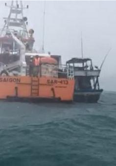 Lai dắt thành công tàu bị gãy bánh lái vào bờ Côn Đảo