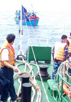 Quảng Trị: Cứu nạn thành công 2 ngư dân gặp nạn trên biển