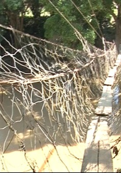 Hàng loạt cầu treo dân sinh ở Kon Tum bị xuống cấp
