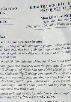 Khánh Hòa: Dừng thi học kì I đối với khối lớp 12 vì nghi bị lộ đề