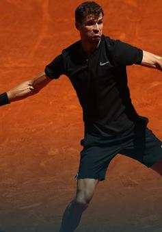 """Madrid mở rộng 2017: """"Tiểu Federer"""" Dimitrov vào vòng 2"""