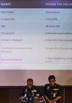Việt Nam khẩn trương xác minh thông tin nghi phạm Đoàn Thị Hương bị bắt tại Malaysia