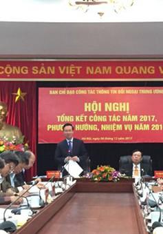 Ban Chỉ đạo Công tác thông tin đối ngoại Trung ương tổng kết công tác năm 2017