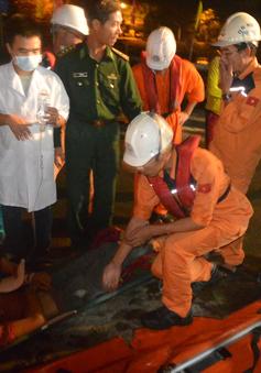 Cấp cứu khẩn cấp thuyền viên bị tai nạn lao động tại Cù Lao Chàm, Hội An