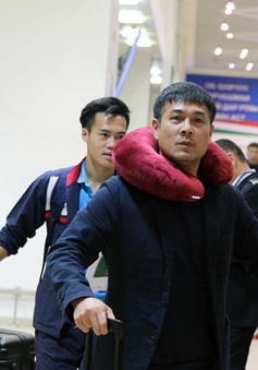 ĐT Việt Nam đã có mặt tại Tajikistan