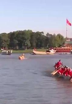 Sôi nổi hội đua thuyền truyền thống trên sông Hương, TP. Huế