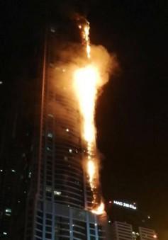 Cháy lớn tòa tháp 79 tầng ở Dubai