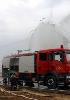 Diễn tập chữa cháy lớn tại kho khí hóa lỏng Dung Quất