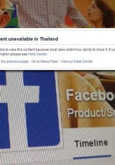 Thái Lan tuyên bố sẵn sàng chặn Facebook